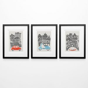 Gallery Wall Art Italian Poster Retro